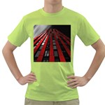 Red Building City Green T-Shirt Front