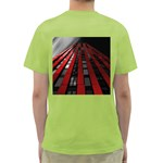 Red Building City Green T-Shirt Back