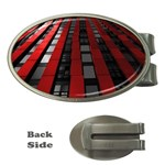 Red Building City Money Clips (Oval)  Front