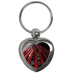 Red Building City Key Chains (Heart)  Front