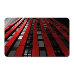 Red Building City Magnet (Rectangular) Front