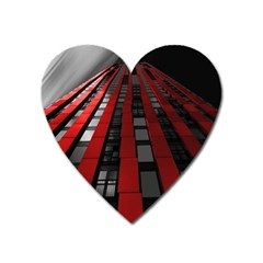 Red Building City Heart Magnet