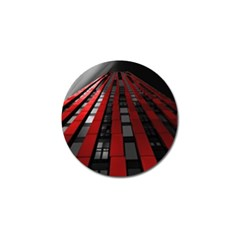 Red Building City Golf Ball Marker