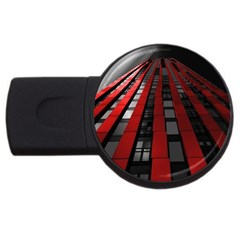 Red Building City USB Flash Drive Round (1 GB)