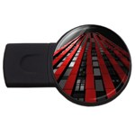 Red Building City USB Flash Drive Round (1 GB)  Front
