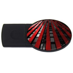 Red Building City USB Flash Drive Oval (2 GB)