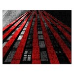 Red Building City Rectangular Jigsaw Puzzl Front