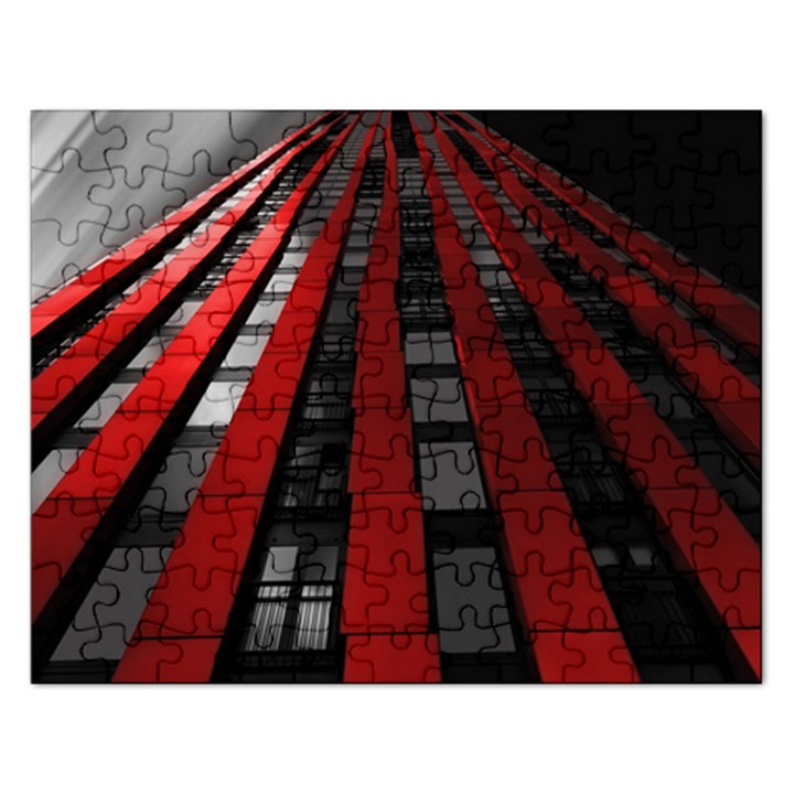 Red Building City Rectangular Jigsaw Puzzl