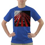 Red Building City Dark T-Shirt Front