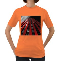 Red Building City Women s Dark T-Shirt