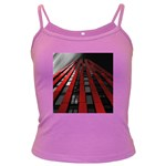 Red Building City Dark Spaghetti Tank Front