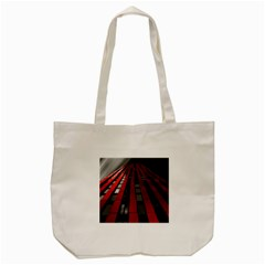 Red Building City Tote Bag (Cream)