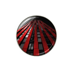 Red Building City Hat Clip Ball Marker (4 pack)