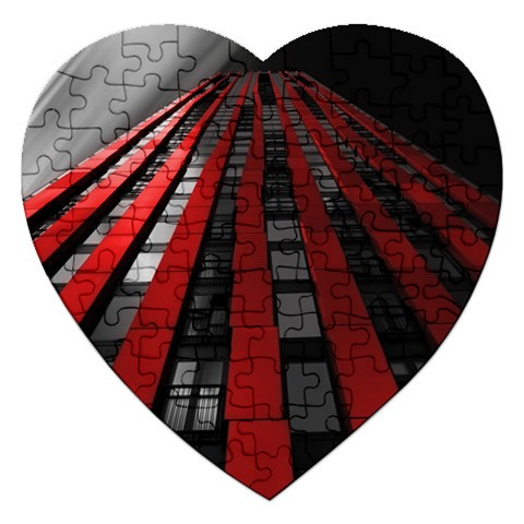 Red Building City Jigsaw Puzzle (Heart)