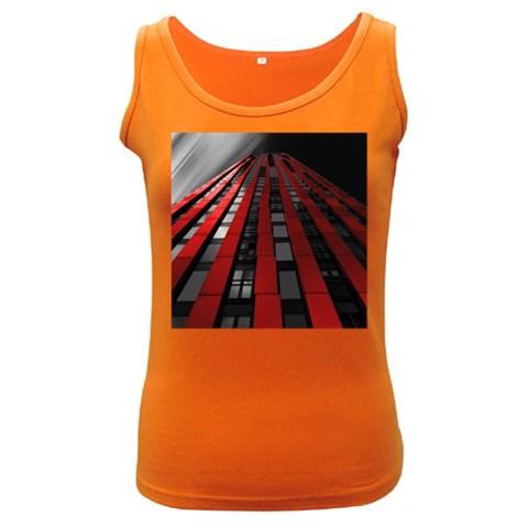 Red Building City Women s Dark Tank Top