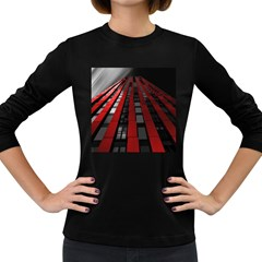 Red Building City Women s Long Sleeve Dark T-Shirts
