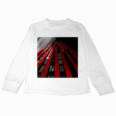 Red Building City Kids Long Sleeve T-Shirts