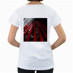 Red Building City Women s Loose-Fit T-Shirt (White) Back