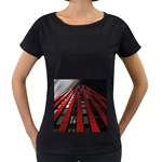 Red Building City Women s Loose-Fit T-Shirt (Black) Front