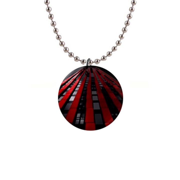 Red Building City Button Necklaces