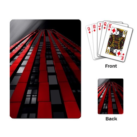 Red Building City Playing Card