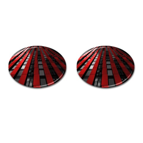 Red Building City Cufflinks (Oval)