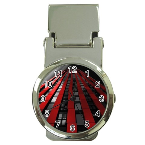 Red Building City Money Clip Watches