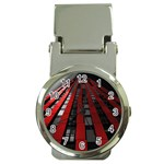Red Building City Money Clip Watches Front