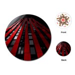 Red Building City Playing Cards (Round)  Front