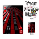Red Building City Playing Cards 54 Designs  Front - Heart9
