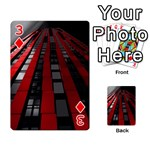 Red Building City Playing Cards 54 Designs  Front - Diamond3