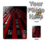 Red Building City Playing Cards 54 Designs  Front - Club2