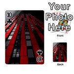 Red Building City Playing Cards 54 Designs  Front - Club10