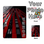 Red Building City Playing Cards 54 Designs  Front - Joker1