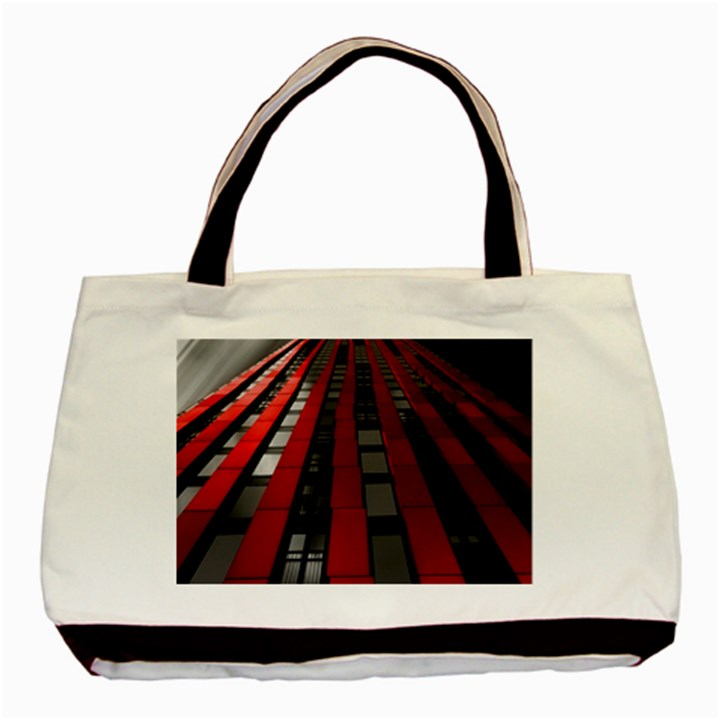 Red Building City Basic Tote Bag