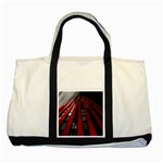 Red Building City Two Tone Tote Bag Front