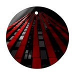 Red Building City Round Ornament (Two Sides)  Front