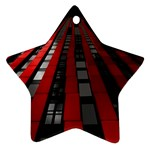 Red Building City Star Ornament (Two Sides)  Back