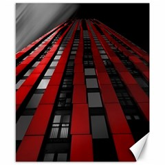 Red Building City Canvas 8  x 10
