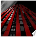 Red Building City Canvas 12  x 12   12 x12 Canvas - 1