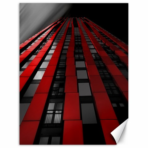 Red Building City Canvas 18  x 24