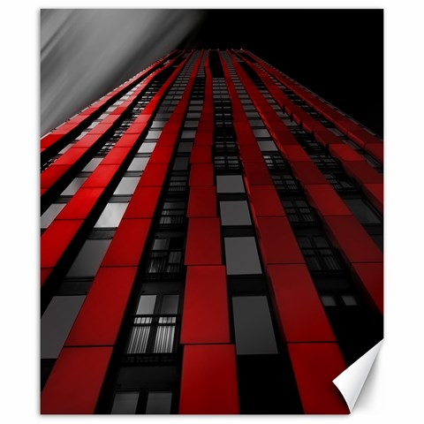 Red Building City Canvas 20  x 24