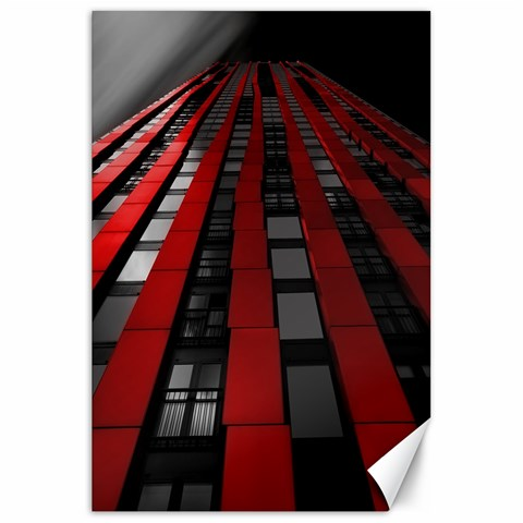 Red Building City Canvas 20  x 30