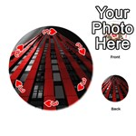 Red Building City Playing Cards 54 (Round)  Front - Heart3