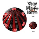 Red Building City Playing Cards 54 (Round)  Front - Heart10