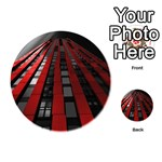 Red Building City Playing Cards 54 (Round)  Back