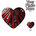 Red Building City Playing Cards 54 (Heart)  Front - Heart7