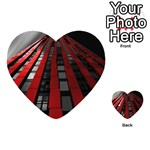 Red Building City Playing Cards 54 (Heart)  Back