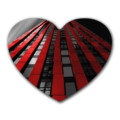 Red Building City Heart Mousepads