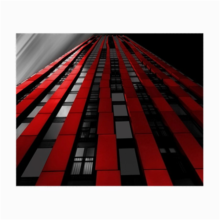 Red Building City Small Glasses Cloth (2-Side)